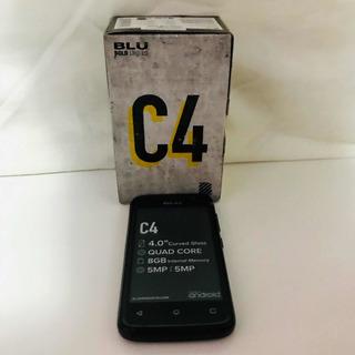 Celular Blu C4 8gb Dual Chip Black Capa Silicone E Película