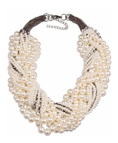 Collar Elegante Maxi Perlas Evento Regalo Envío Gratis