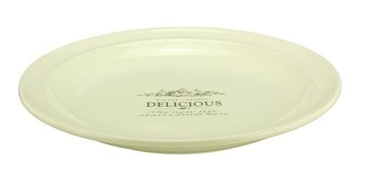 Plato De Ceramica Con Logo 26 Cm