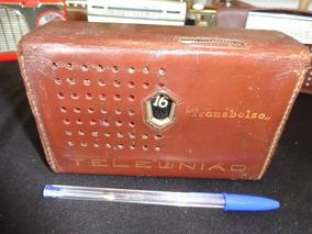 Rádio Portátil Marca Teleunião (transbolso)