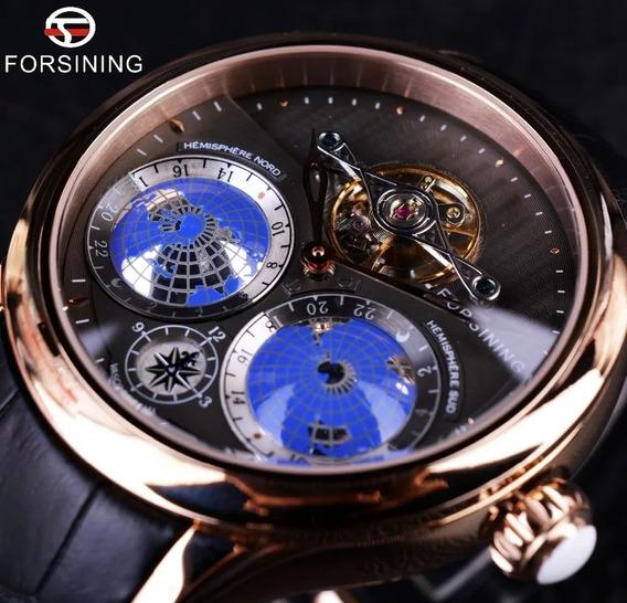 Relógio Automático Tourbillon, Elegante, Sofisticado.