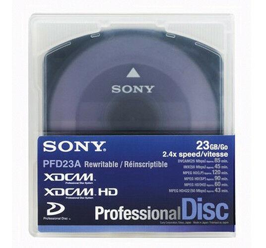 Kit 5 Mídias Xdcam Pfd23 23gb Sony Pfd-23a Zero Km Original