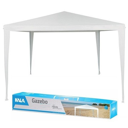 Tenda Praia Gazebo Branca - Barraca Camping Com Sacola 3x3 M