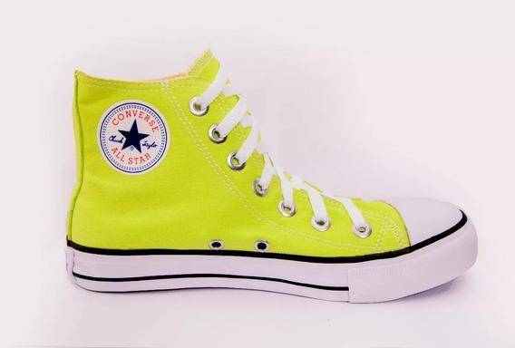 Tênis Converse All Star Cano Alto Verde Neon