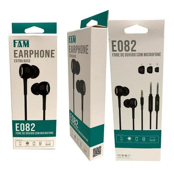Fone De Ouvido Estéreo In-ear Com Microfone