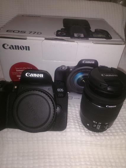 Câmera Canon 77d C/ 18-55 F/3.5-5.6 Usada Ler Todo Anuncio