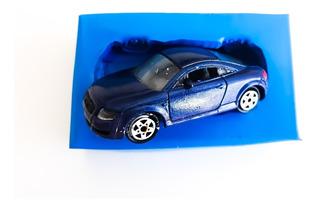 Molde De Silicone Carro Miniatura (audi Azul) Para Biscuit