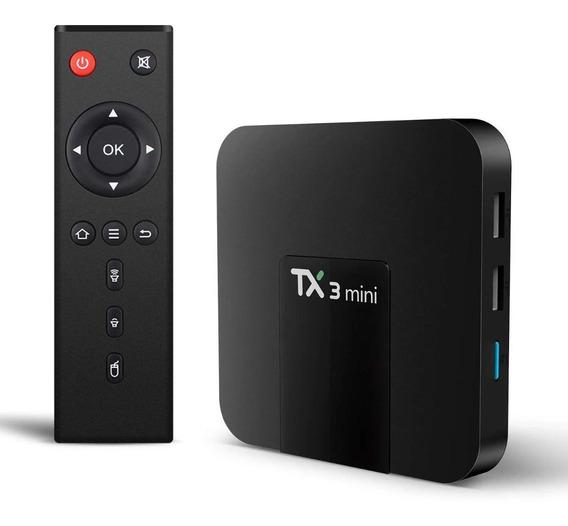 Aparelho Transforma Tv Comum Em Smart Tx3 Mini Box Android