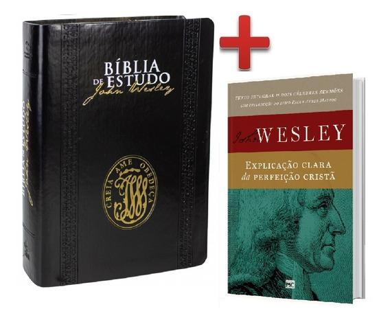 Bíblia De Estudo John Wesley Preta + Livro John Wesley