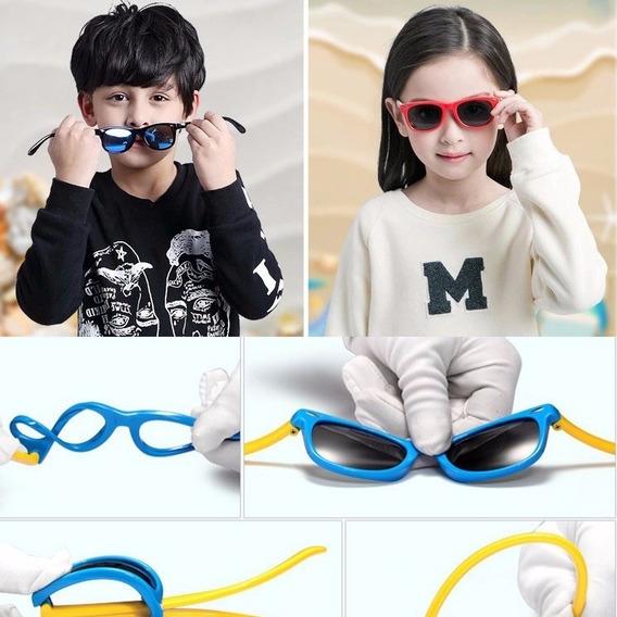 Óculos Infantil Resistente Flexível Sol Polarizada Uv400
