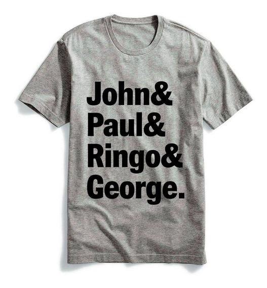 Camiseta The Beatles John, Paul, Ringo E George