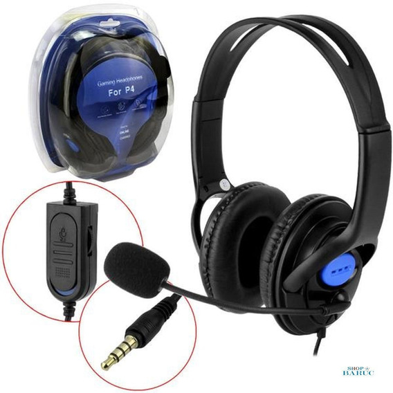 Headphone Gamer Com Microfone Preto Dex Df-400 Df-400 Dex