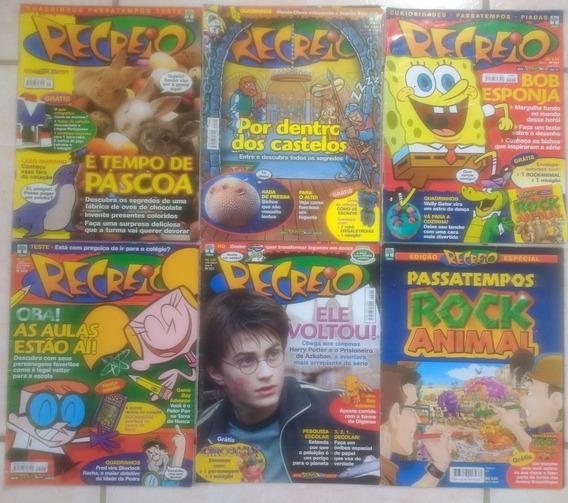 Lote 6 Revistas Recreio Passatempo 56 112 181 204 221 Abril