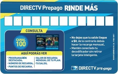 Recarga Directv Colombiano X 30 Días Decodificador