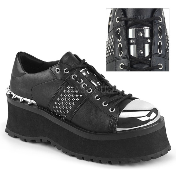 Zapatos Dark Alternativo Rock Punk Demonia Gravedigger 02