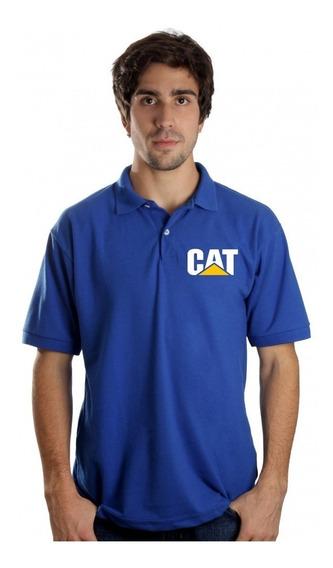 Camiseta Polo Caterpillar Maquinas Pesadas Camisa Trator Cat
