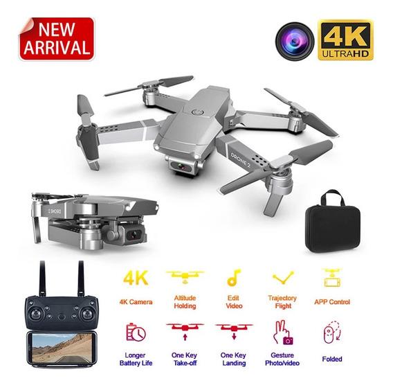 Drone E68 - 3 Baterias/câmera 4k/bolsa-case -pronta Entrega