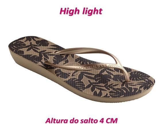 Havaianas High Light , High Look E High Fashion , Altura Do Salto 4 E 6 Cm , Varios Modelos E Cores Tamanho 41/42