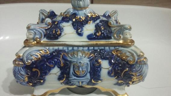 Antiguidade,porta Joia De Porcelana