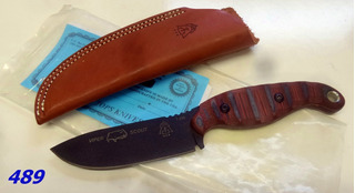 Faca Tops Viper Scout Survival Red Handle Vps-r2