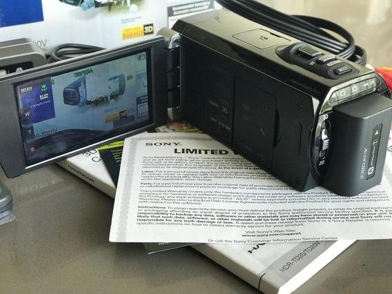Camera Handycam 20.1 Mp Sony Hdr-td20v 3d - 64gb - Full Hd