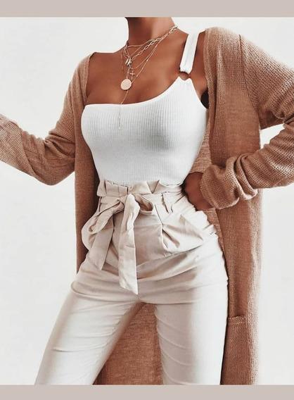 Pantalones Dama De Vestir Lazo Joggers Moda Elegantes