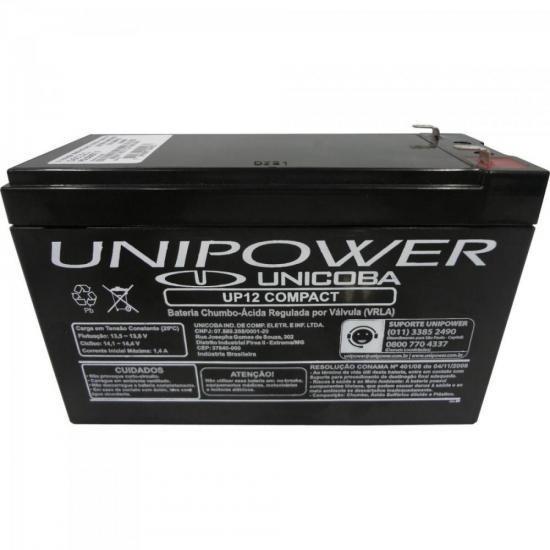 Bateria Selada Up12 Compact Unipower 12v/6a