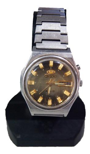 Relógio De Pulso Automático Orient Dourado E Verde Déc 80