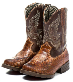 81cd9f779d Bota Country Texana Infantil Masculina Menino Couro Barato. R  150