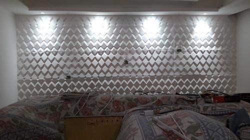 Imagem 1 de 5 de Revestimento De Parede Em 3d E Rebaixamento Em Drywall