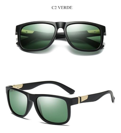 Oculos Solar Yooske Masculino Polarizado Proteção Uv- Verde