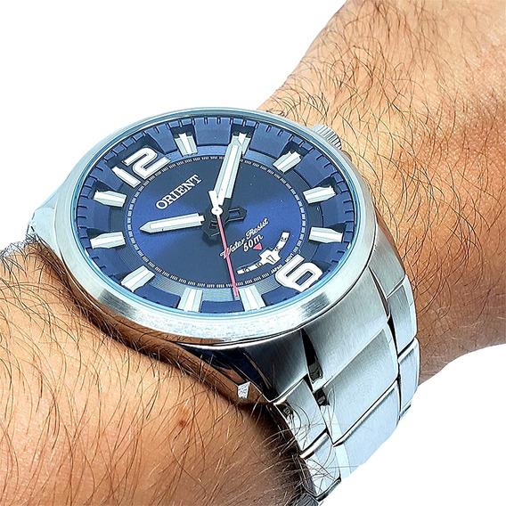 Relógio Orient Masculino De Aço Grande