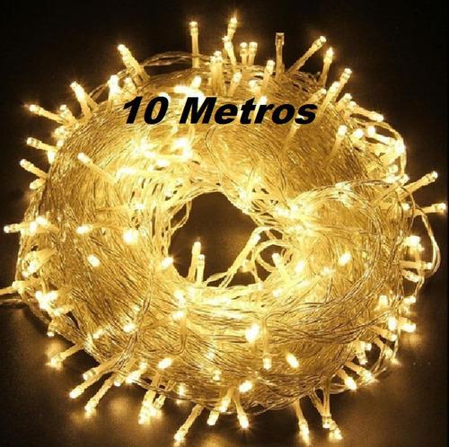 Imagen 1 de 4 de Luces Led Navidad 10 Metros 100 Focos Largo Oferta Cmarvin