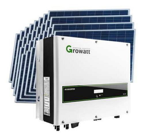 Kit Solar Inversor Growatt Trifásico 6000w+20 Paneles