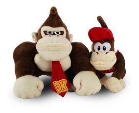 Pelúcia Donkey Kong Diddy Original Nintendo 23cm