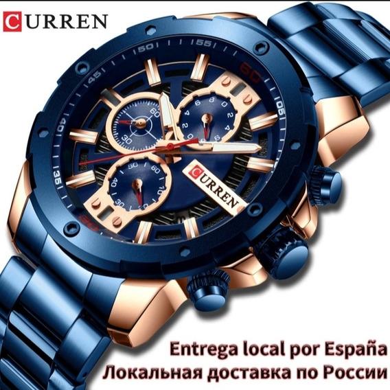 Relógio De Luxo Curren Quartz Masculino