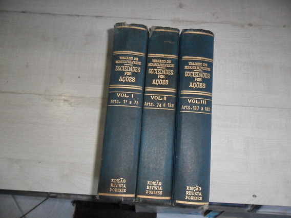 Livro Sociedade Por Ações Vol. 1 2 E 3 Trajano De Miranda