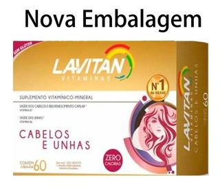 (kit C/3) Lavitan Cabelos Unhas 180 Cápsulas