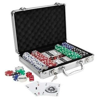 Maletín Deluxe De Poker Baraja Fichas Dados