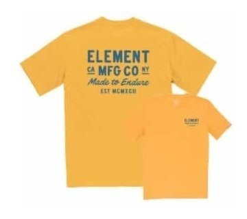Remera M/c Element Sign Tee Hombre Yellow 21197007