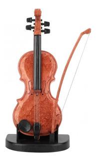 Mini Caja De Música De Plástico Con Forma De Violín