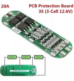 Placa Proteção 3s Bms Bateria 18650 Li-ion 20a Frete 10,00