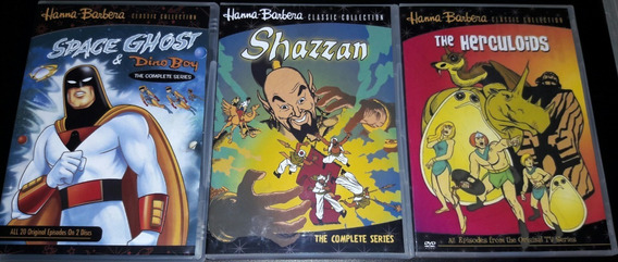 Dvd Box Shazzan -herculóides E Space Ghost & Dino Boy