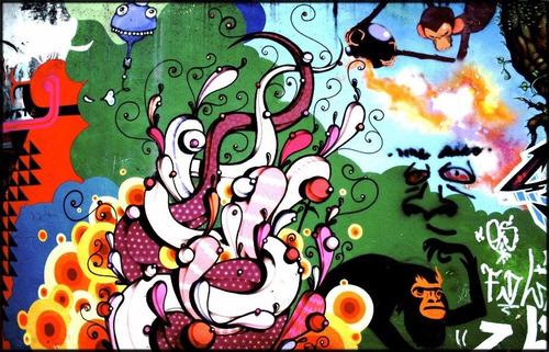 Foto Poster Grande Grafite 60cmx90cm Arte Urbana Decoração