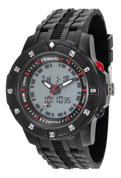 Relógio Speedo Masculino Anadigi Preto Esportivo