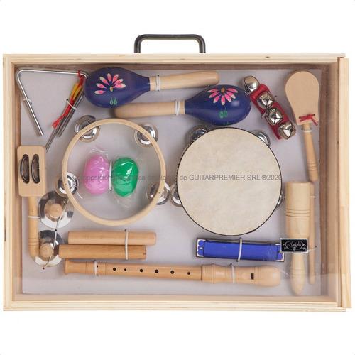 Set De 12 Instrumentos De Percusion Banda Ritmica Valija