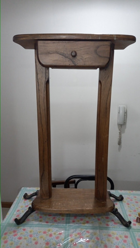 Imagen 1 de 5 de Recibidor Madera Maciza Con Espejo Y Revistero No Envio