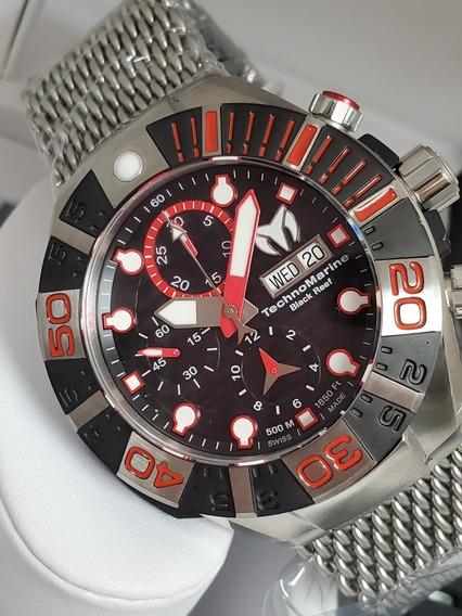 Relógio Technomarine Swiss Automático Cronógrafo 500m 45mm