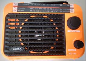Rádio Portátil Mp3 Usb Cartão Sd Pen Drive Am/fm/sw Mk190