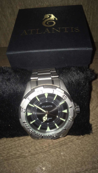 Relógio Atlantis Prateado Esterço Resistant Original A3482